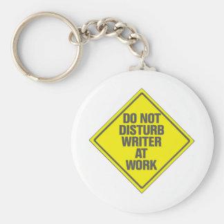 Do Not Disturb Writer At Work Keychain