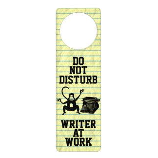 Do Not Disturb Writer at Work Monkey Typewriter Door Knob Hanger