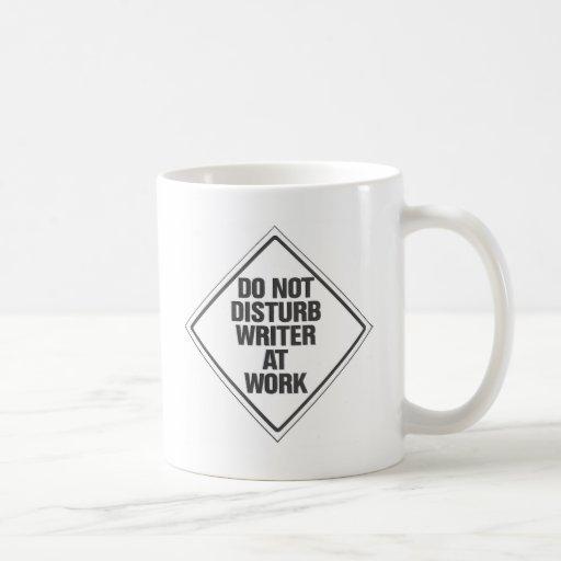 Do Not disturb Writer At Work Classic White Coffee Mug