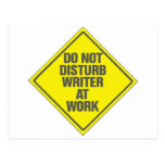 Do Not Disturb Writer At Work Post Cards