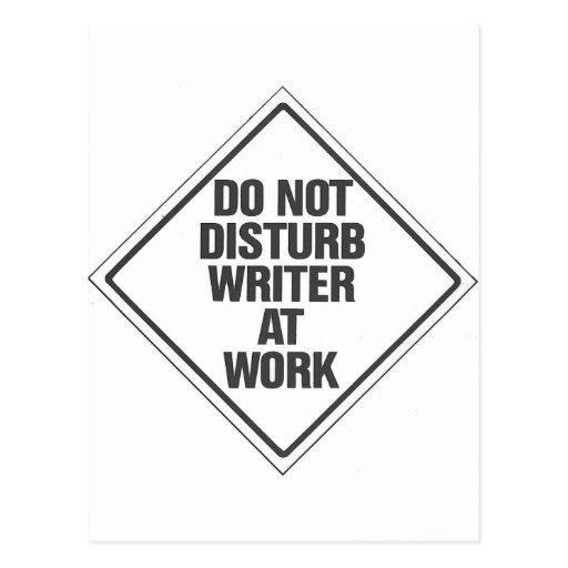 Do Not disturb Writer At Work Postcards