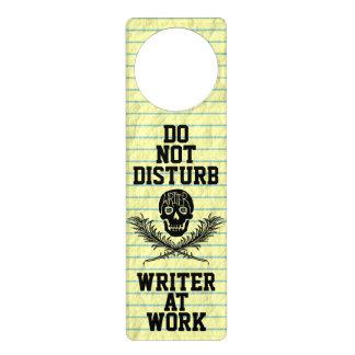 Do Not Disturb Writer at Work Skull Door Hanger