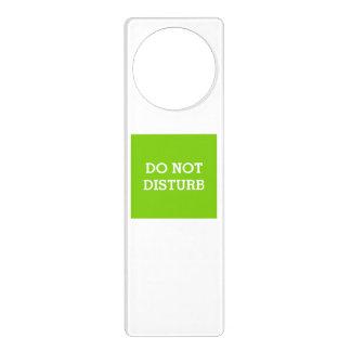 Do Not Disturb Yellow Green Door Hanger by Janz