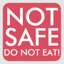 DO NOT EAT Not safe food stickers for allergies