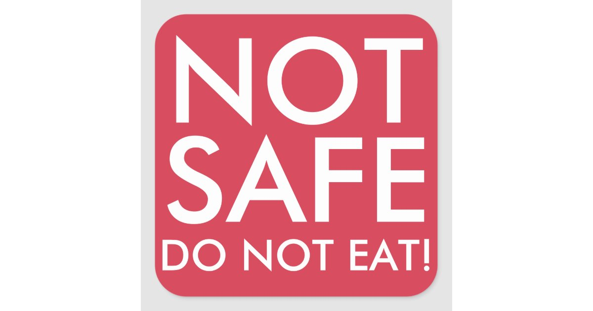 do not eat not safe food stickers for allergies zazzle