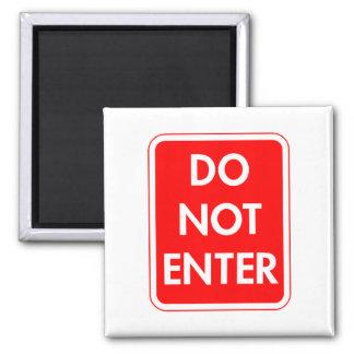 Do Not Enter 2 Inch Square Magnet