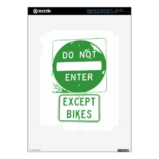 Do Not Enter Except Bikes iPad 3 Skin