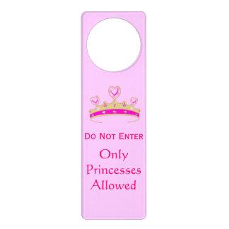 Do Not Enter Only Princesses Allowed Crown Tiara Door Knob Hangers