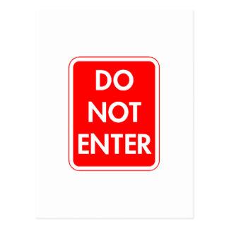 Do Not Enter Postcard