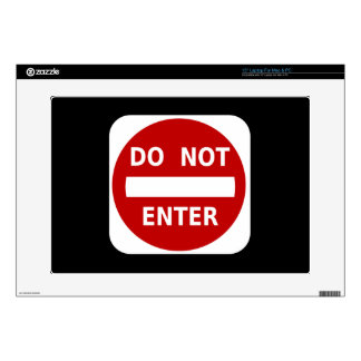 Do Not Enter Sign Decal For Laptop