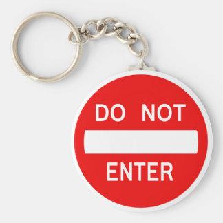 Do Not Enter Sign (Keychain) Keychain