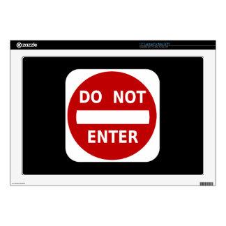 Do Not Enter Sign Laptop Decal