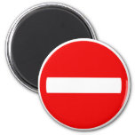 Do Not Enter Sign (Magnet) 2 Inch Round Magnet