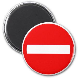 Do Not Enter Sign (Magnet) 2 Inch Round Magnet