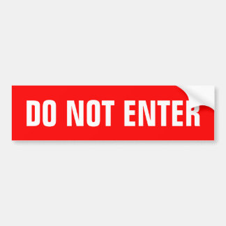 Do not enter stickers