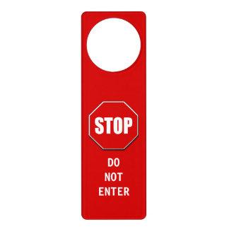 Do Not Enter Stop Sign Door Hanger