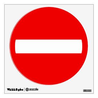 Do Not Enter Wall Decal (No Text)