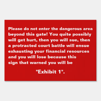Do Not Enter Warning Custom Fun Yard Sign Small