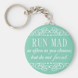 Do Not Faint Jane Austen Keychain (Pale Green)