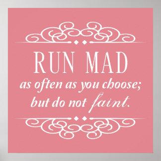 Do Not Faint Jane Austen Quote Poster (Pale Pink)