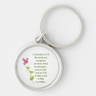 Do Not Fear, Courage Scriptures Sweet Pea Locket Key Chain