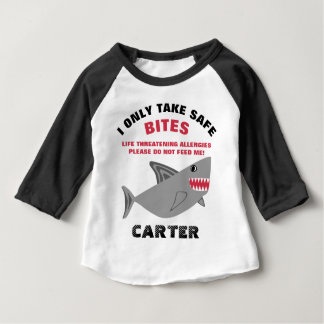 Do Not Feed Me Food Allergy Alert Shark Shirt
