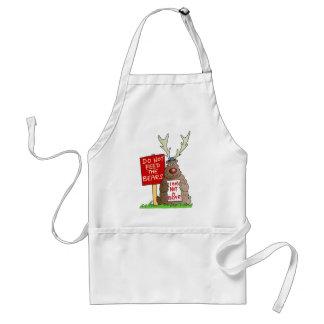 Do Not Feed the Bears apron