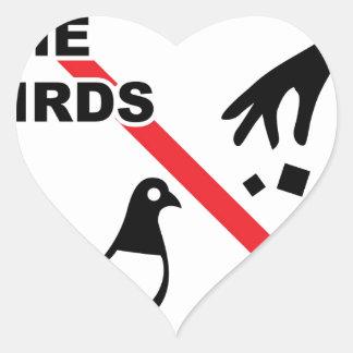 Do not feed the birds Sign Heart Sticker