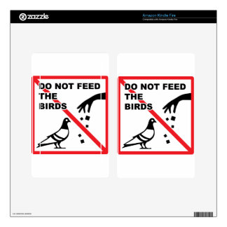 Do not feed the birds Sign Kindle Fire Decal
