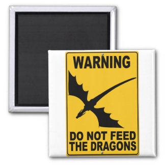 Do Not Feed the Dragons Magnet