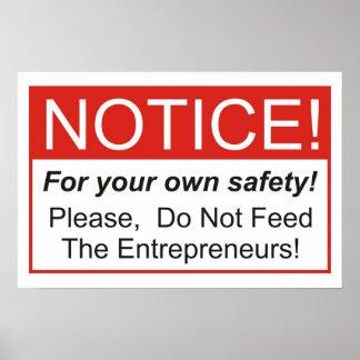 Do Not Feed The Entrepreneurs! Poster