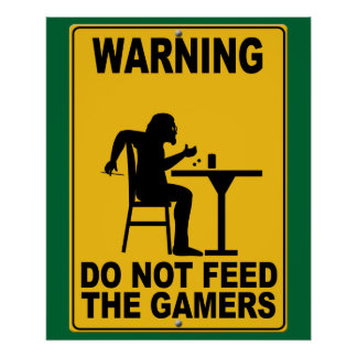 Do Not Feed the Gamers Poster