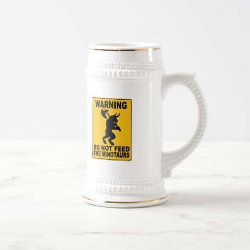 Do Not Feed the Minotaurs 18 Oz Beer Stein