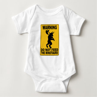 Do Not Feed the Minotaurs Baby Bodysuit