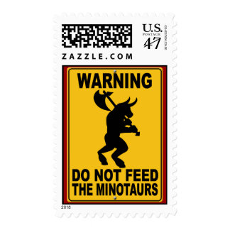 Do Not Feed the Minotaurs Postage