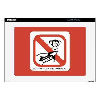 Do Not Feed The Monkey I Laptop Decals