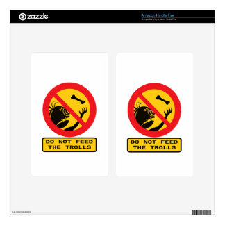 Do not Feed the Trolls Sign Kindle Fire Decal