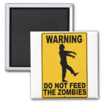 Do Not Feed the Zombies 2 Inch Square Magnet