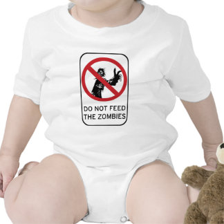 Do not feed the Zombies! clothing Bodysuits