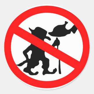 Do Not Feed Troll Classic Round Sticker