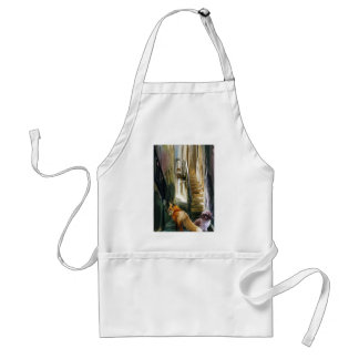 do not follow in the footsteps adult apron