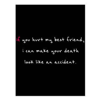 Do Not Hurt My Best Friend Postcard