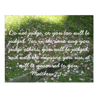 Do Not Judge - Christian Postcard