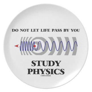 Do Not Let Life Pass By You Study Physics Party Plates