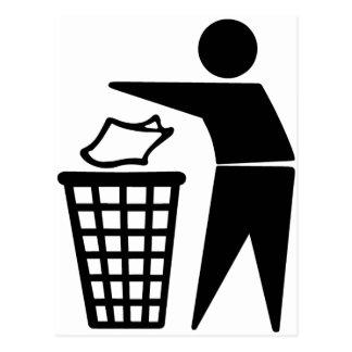 Do Not Litter Symbol Postcard