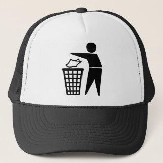 Do Not Litter Symbol Trucker Hat