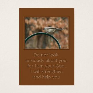 do not look anxiously about you bird on arch business card