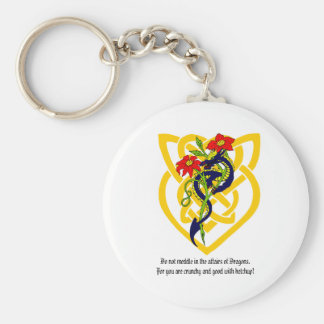 Do not meddle in the affairs of Dragons. Keychain