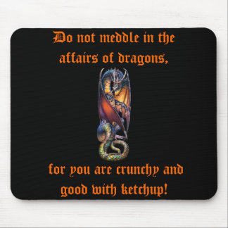 Do not Meddle in the Affairs of Dragon's Mousepad