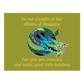 Do Not Meddle in the Affairs of Dragons Postcard